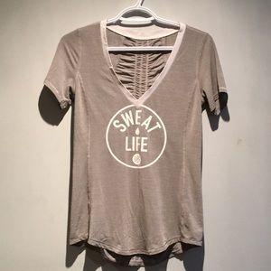 RARE 🔥Lululemon Gray Sweat Life Top Size 6